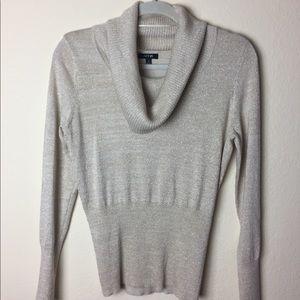 Apt9 Golden Cowl Neck Sweater